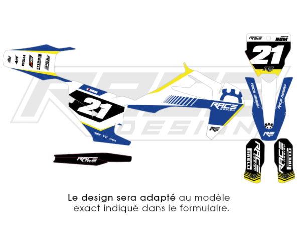 kit stiker husqvarna v2 bleu
