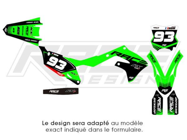 kit sticker kawazaki racer v2