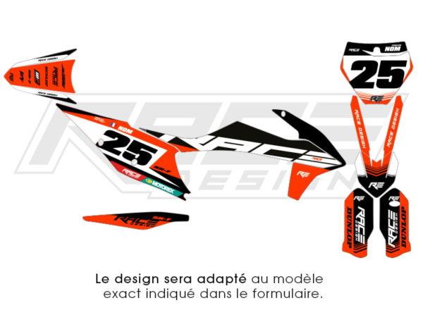 kit stickers ktm racer v1