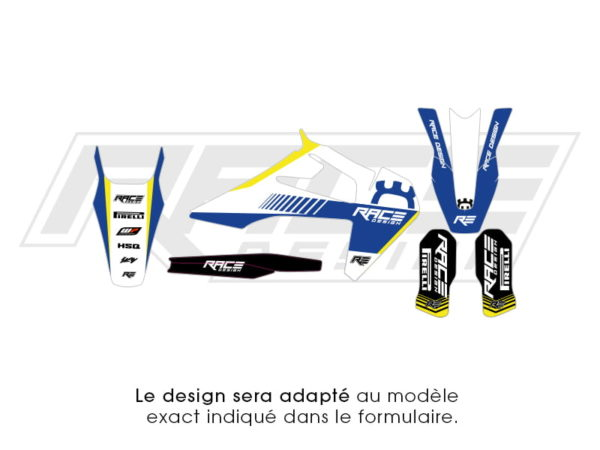 kit deco partiel sticker husvarna racer