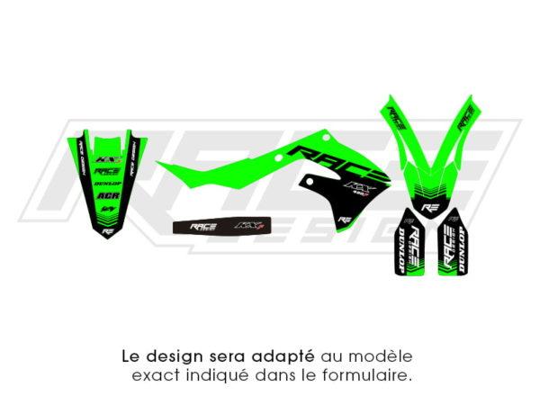 kit sticker partiel kawasaki racer v2