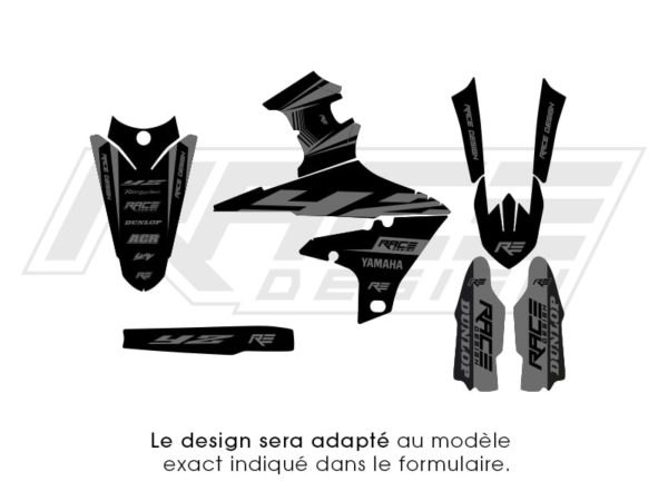 stiker kit deco partiel yamaha speed black