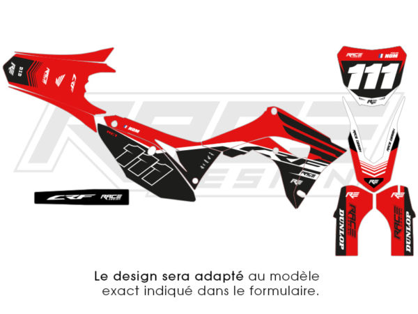 kit sticker honda racer blanche