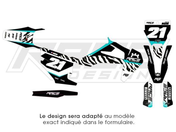 kit stickers deco husqvarna zebra