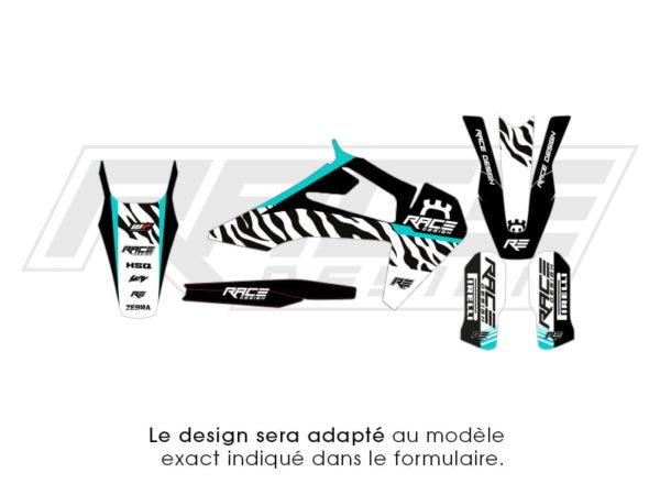 kit sticker partiel husvarna zebra