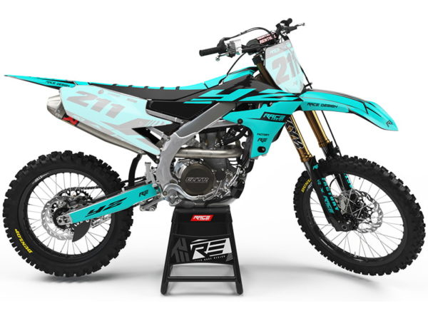 yamaha speed turquoise stickers kit deco partiel