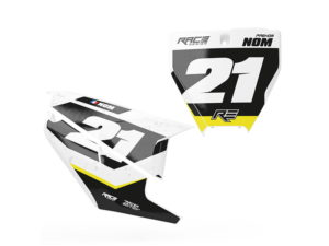 stickers plaque husvarna racer black