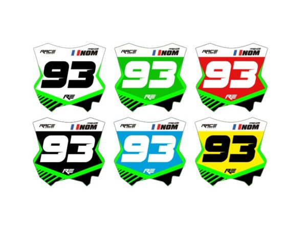 stickers plaque kawasaki racer