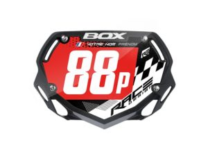 sticker plaque bmx box small racer