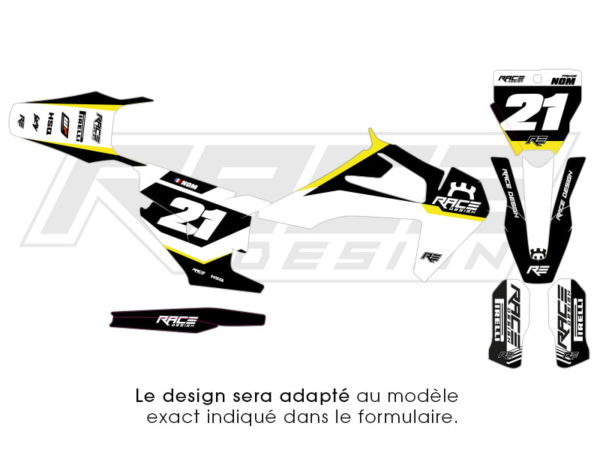 kit stickers husqvarna racer