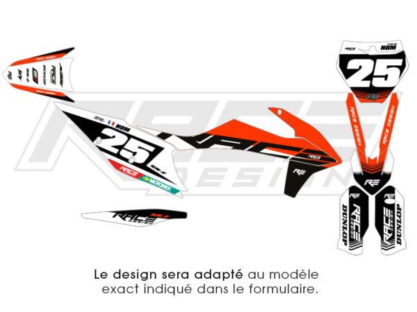 stiker ktm racer blanche