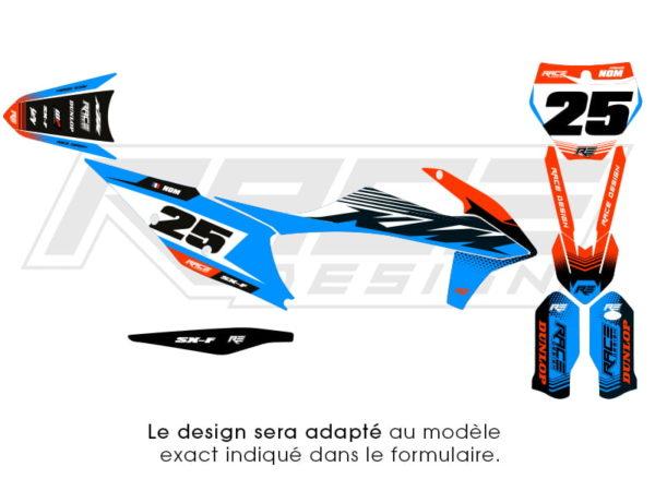 kit stiker ktm line blue