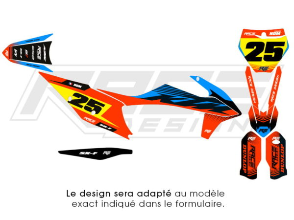 kit sticker ktm line