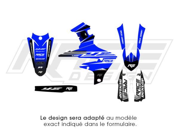 kit deco sticker partiel yamaha race edition