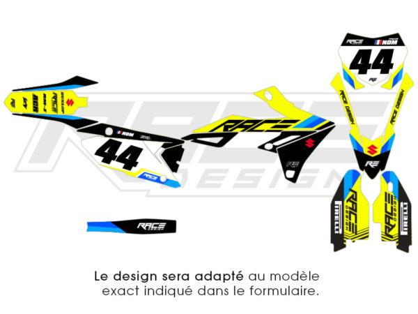 deco stickers suzuky racer
