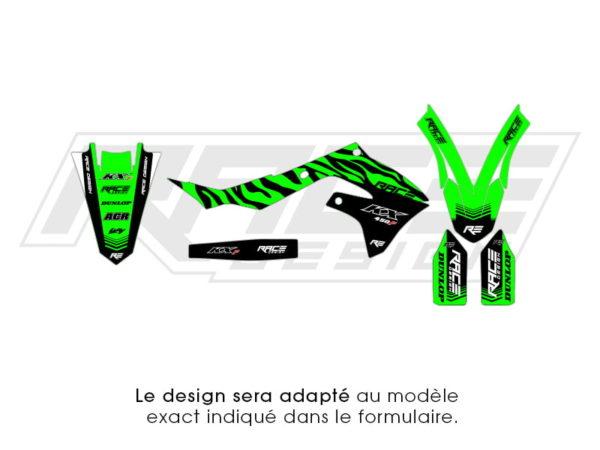 kit sticker partiel kawasaki zebra
