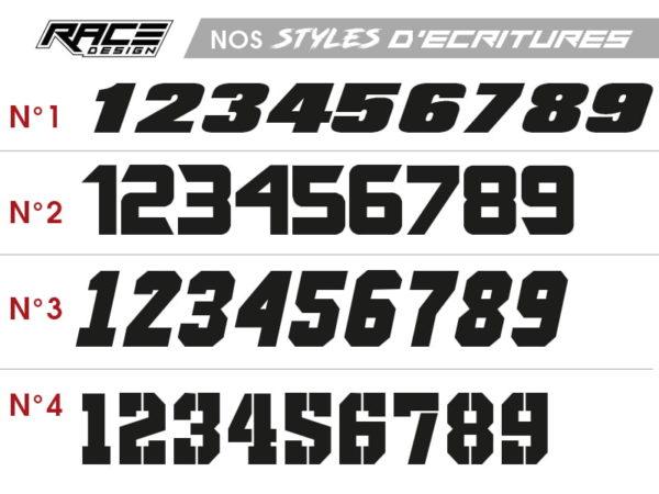 style ecriture stickers moto